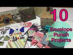 10 Envelope Punchboard Ideas♥Part 1- 10 List Tuesday | I'm A Cool Mom - YouTube