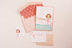 Mermaid party invitation suite « Posh Paperie