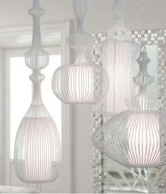 I could do a modern take on the moroccan lamp, like these elite wire lamps in the lampada collection