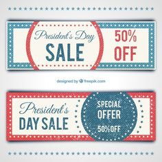 Vintage president day discount coupons Free Vector