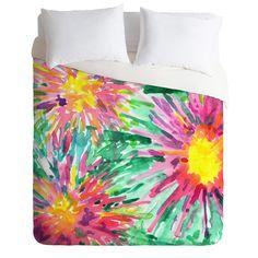 DENY Designs Joy Laforme Floral Confetti Duvet Cover Collection   AllModern