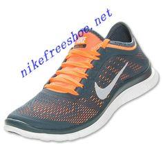 Nike Free 3.0 V5 Mens Dark Armory White Total Orange 580393 418