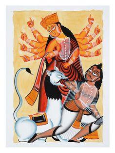 Durga Kalighat Artwork