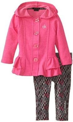 Calvin Klein Baby-Girls Infant Jacket with Hood and Printed Pants, Purple, 18 Months  Calvin Klein $19.19
