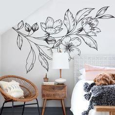Diy Wall Art For Kids Creative Trendy Ideas Wall Murals Bedroom, Mural Wall Art, Diy Wall Art, Diy Bedroom, Diy Wand, Wall Painting Decor, Wall Paintings, Flower Mural, Decoration Bedroom