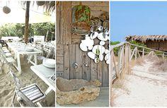Restaurante pé na areia em Formentera, Espanha, o Beso Beach tem cardápio especializado em mojitos e frutos do mar. A dica da Sister Mari Cassou você confere no Gallerist Blog.