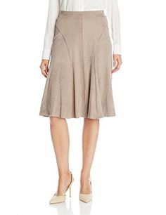 048558d1ca Clothing, Shoes & Jewelry > Women > Clothing > Skirts > Elie Tahari Women's  Taura Skirt, Coffee, 10 Get Price Stretch faux suede.