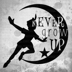 Peter Pan Silhouettes svg file Peter Pan Clip art by GlowCave
