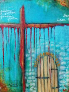 Christian Art #kimberlymccormick #artbykimberly #beautyforashesartanddecor #christianart #inspirationart #door #cross