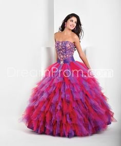 Brilliant A-Line Lace-up Strapless Empire Ball Gown/Quinceanera Dresses
