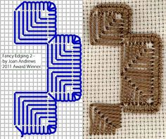 Hardanger Edgings « Save the Stitches!  Learn Hardanger embroidery with guides at Nordic Needle.  #hardanger #stitching #howto #embroidery #needlework