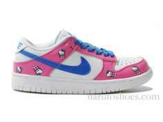 sports shoes 35f83 5438d Nike Dunk Low Hello Kitty Pink White Blue Girl Shoes 95 Hello Kitty Shoes,  Pink