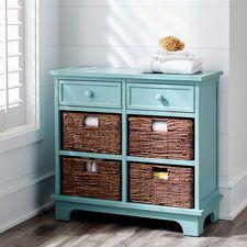 Holtom Drawer & Basket Storage - Antique Sky Blue