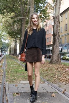 @roressclothes closet ideas #women fashion outfit #clothing style apparel Black and Brown Outfit