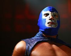 Blue Demon, another icon in Mexican lucha libre. Blue Demon Jr, Storm London, Mexican Mask, Mexican Wrestler, D Mark, Art Of Fighting, Mexico Culture, Mexico Style, Saints Row