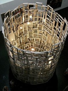 Chiharu Shiota ca. 600 old wooden windows collected on construction sites in Berlin height: ca. 6 m diameter: 4 m