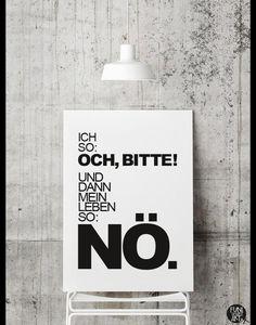 """Digitaldruck - Typo Poster """"Nö."""" (DIN A4) - ein Designerstück von FUNI-SMART-ART bei DaWanda"""
