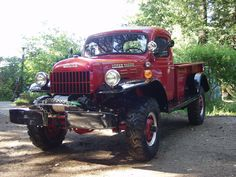 """Dodge Power Wagon -Although it's caption reads """"1962 WM-300 Power Wagon"""" I think it's a late 50's model."""