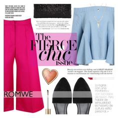 """""""The Fierce Chic Issue"""" by tasnime-ben ❤ liked on Polyvore featuring Ashley Graham, Jane Iredale, Too Faced Cosmetics and romwe"""