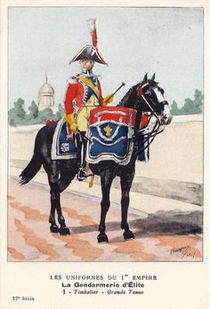 French; Imperial Guard, Gendarmes d'Elite, Kettle Drummer, Grande Tenue