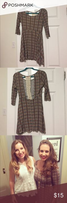 Nashville boutique dress with fun lace back detail Fun Jersey material fall dress, comfortable but with super cute lace back detail. Perfect for fall 🍂 Blush Dresses