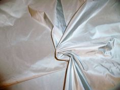 SCALAMANDRE SYMPHONY Silk Taffeta Fabric SPA Blue.