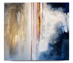 """Neve"" (mixed media on wood, 2014) - by Beatrice Zagato - abstract art"