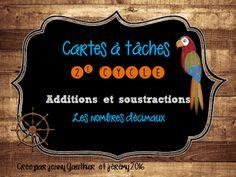 c-a-t add-sous décimal. Decimal, Math Addition, Best Teacher, Fractions, Teaching Math, Coding, Education, School, Pdf
