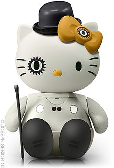 Two of my favorite things: hello kitty and a clockwork orange all mixed up, messed up, smashed up. I gotta admit it's quite a weird mix, but I do like it.