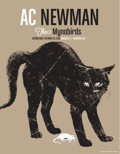 Ac Newman + The Mynabirds gig poster by Pete Cardoso http://jungleindierock.tumblr.com/post/37336351281/ac-newman