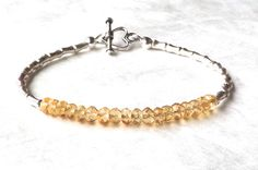 Luxe Citrine Bracelet Karen Hill Silver by EclecticDesigns on Etsy
