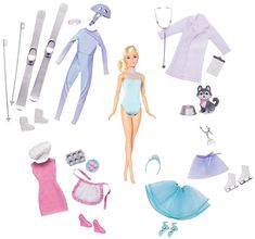 Barbie Careers Advent Calendar - Fun Countdown to Christmas, Design & Fashion for 5 Careers Barbie Style, Barbie Sets, Barbie Dolls, Ken Doll, Cool Calendars, Advent Calendars, Accessoires Barbie, Barbie Website, Barbie Fashionista Dolls