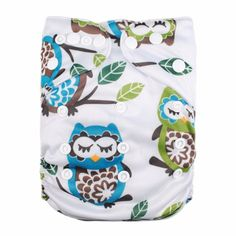 Sleepy Owl Cloth Pocket Diaper , 53% discount @ PatPat Mom Baby Shopping App