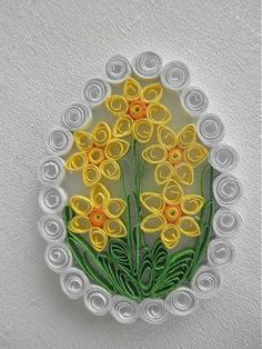 I made Easter decoration from paper with quilling technique, . - I made Easter decoration from paper with quilling technique, … – - Neli Quilling, Paper Quilling Flowers, Paper Quilling Patterns, Origami And Quilling, Quilled Paper Art, Quilling Paper Craft, Paper Beads, Paper Crafts, Quilling Teknik