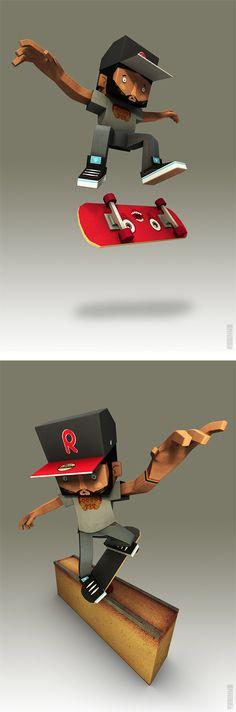 3D Illustrations by Robson Santana da Silva | Inspiration Grid | Design Inspiration