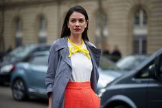 Street Style: Paris Narrows In on Prints and Accessories - The Cut