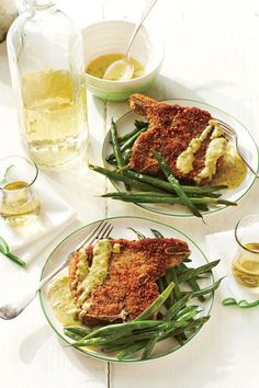 21 Quick Fix Pork Chop Suppers: Homemade Shake-and-Bake Pork Chops with Mustard Sauce
