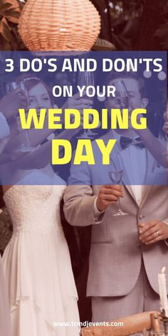 Your wedding day should be a joyful event. You do need to avoid some common mistakes though to make sure it's smooth sailing. That's why we wrote this post with our top 3 Do's & Don'ts for your wedding day. If you are looking for a wedding DJ in the NYC area then email us at info@tcmdjevents.com. #weddingday, #weddingideas, #cutewedding Latin Wedding, Wedding Dj, On Your Wedding Day, Wedding Tips, Nyc Wedding Venues, Wedding Locations, Wedding Trends, Warehouse Wedding, Nyc Life