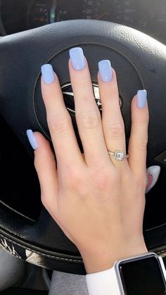 Short acrylic nails are great if you are looking for a remarkable nail style. We have gathered 50 best short acrylic nail designs. Check them out! Blue Acrylic Nails, Summer Acrylic Nails, Blue Nails, Acrylic Nail Designs, Summer Nails, Periwinkle Nails, Summer Vacation Nails, Cute Spring Nails, Acrylic Gel