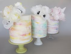 Wafer Paper Flowers,Wafer Paper & Watercolour, Watercolour Cake ...