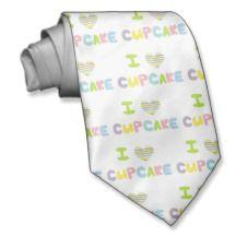 Eu amo o cupcake gravata