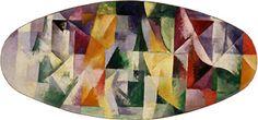 Robert Delaunay  Windows Open Simultaneously 1st Part, 3rd Motif  (Fenêtres ouvertes simultanément 1ère partie, 3e motif), 1912 Oil on canvas, 57 x 123 cm Peggy Guggenheim Collection, Venice 76.2553 PG 36