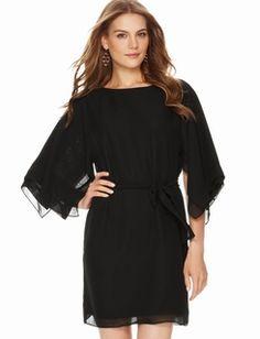 Butterfly-Sleeve Dress
