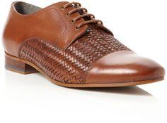 Ted Baker Relder Leather Woven Vamp Formal Shoes in Brown for Men (Tan)