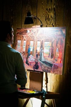 Wed on Canvas - Live Wedding Painting // Boone Hall Plantation Wedding // Dana Cubbage Weddings // Charleston SC Wedding Photography