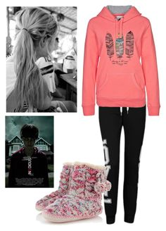 """Watching Insidious.!"" by emz-h ❤ liked on Polyvore featuring Influence, Accessorize and Roxy"