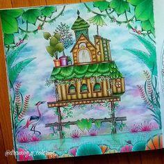 #johannabasford #johannabasfordcoloringbook #johannabasfordmagicaljungle #magicaljungle #magicaljunglecoloringbook #divasdasartes #johanna_basford #johannabasford_repost #adultcoloringbook #coloringoftheday #mycolorfulmoment #mycreativeescape #coloringpencils #coloringbookforadults #colorful #creativecoloring #junglehouse #pastels #marcorenoir