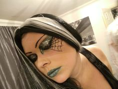 witch make up for halloween party.