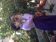Me in Hanbok (Korea traditional clothes) with a traditional mask