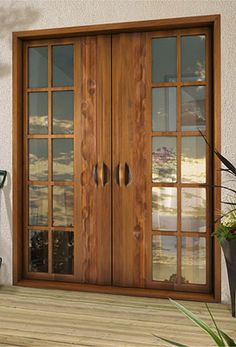 Double front doors make for a grand entrance